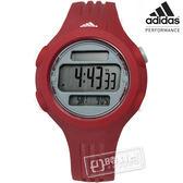 adidas 愛迪達 / ADP3145 / Performance 衝刺任務運動電子腕錶 灰x紅 41mm