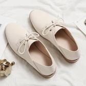 牛津鞋單鞋女春季新款百搭韓版平底系帶小皮鞋英倫風牛津鞋小白鞋女 限時特惠