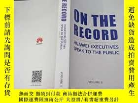 二手書博民逛書店ON罕見THE RECORD HUAWEI EXECUTIVES SPEAK TO THE PUBLIC(2)
