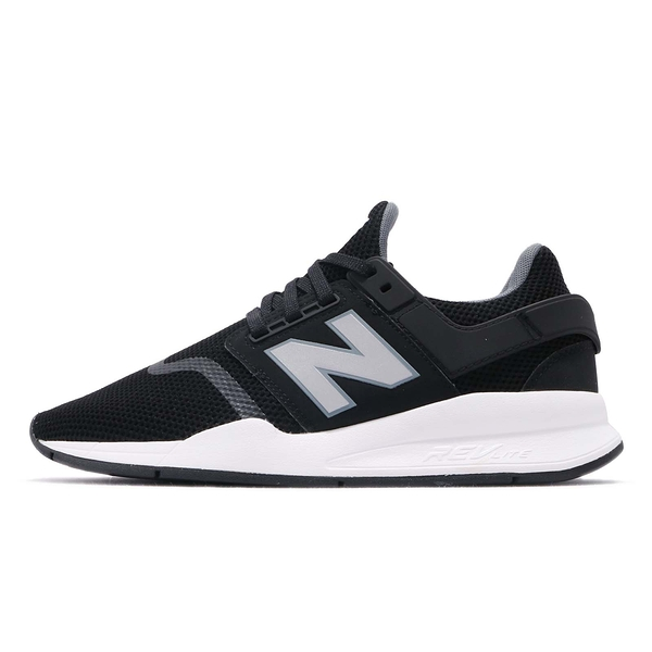 NEW BALANCE 247系列 -中性男女款黑銀配色復古休閒鞋- NO.MS247FF