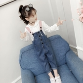 女童吊帶褲 女童秋裝套裝2019新款韓版兒童春秋時髦洋氣童裝吊帶褲兩件套 小天後