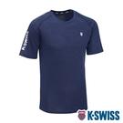 K-SWISS Whs Raglan Sl Tee排汗T恤-男-藍