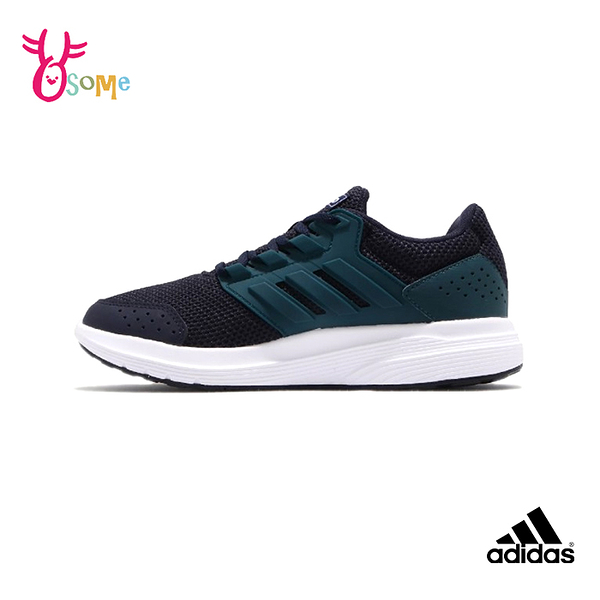 adidas GALAXY 4 成人男款 運動鞋慢跑鞋 R9397#藍綠◆OSOME奧森鞋業