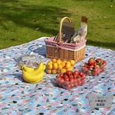 野餐墊戶外便攜防水沙灘墊露營野炊地墊草坪野餐布【小檸檬3C】