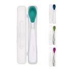 美國 OXO tot 攜帶型湯匙(附收納盒) 4色可選
