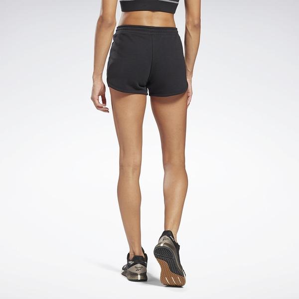 Reebok IDENTITY 女裝 短褲 慢跑 訓練 拉繩 毛巾布 黑【運動世界】GL2554