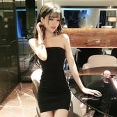 【伊人閣】夜店女裝性感顯瘦包臀抹胸連身裙子