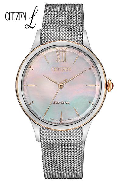 【贈錶帶】CITIZEN 星辰 L系列 輕巧光動能女錶 EM0816-88Y/ 32.5mm