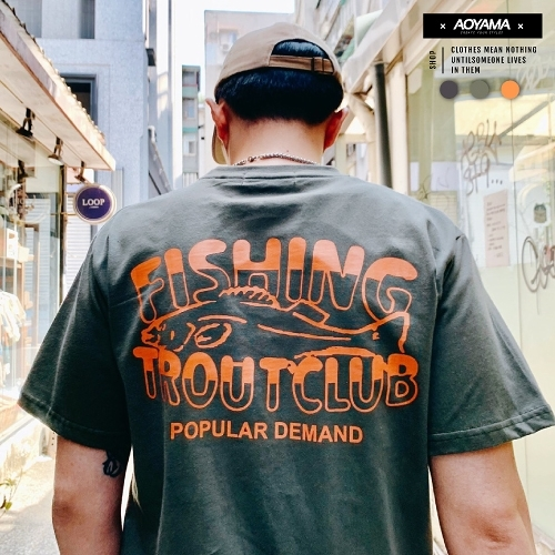 短T 日系OUTDOOR FISHING夏日短T【C21010】寬鬆短袖 韓國 大地色 釣魚俱樂部 青山