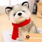 小寵物可愛小號娃娃禮物哈士奇毛絨玩具玩偶禮物公仔【小獅子】