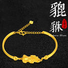 3D印金 貔貅手環 轉運招財手環 -維多利亞180926