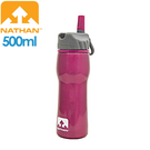 【NATHAN 美國 不鏽鋼水壺500 桃紅】NA4201N/不鏽鋼/大瓶口/輕巧便利