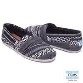 TOMS 圖紋編織懶人鞋-男款(10008357 BLKWHT)