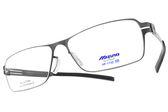 MIZUNO 美津濃 光學眼鏡 MF1732 C24 (槍) 簡約方框款 β鈦眼鏡 # 金橘眼鏡