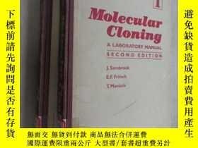 二手書博民逛書店英文書罕見Molecular Cloning (分子克隆實驗手冊)(1、2)共兩本合售Y15969