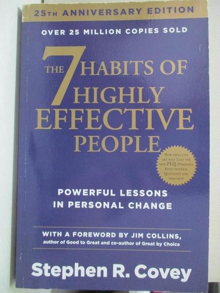 【書寶二手書T1/財經企管_EWN】7 HABITS OF HIGHLY EFFECTIVE PEOPLE.