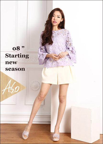 A.S.O 璀璨系列 華麗水鑽絨面涼拖鞋  粉