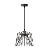 (組)特力屋萊特古銅吊燈鐵線黑燈罩