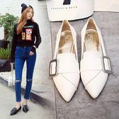 丁果、大尺碼女鞋34-41►歐美明星款俏麗大扣帶低跟鞋樂福鞋*5色