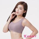 【Kanier卡妮兒】素色素面款簡約輕著涼感有機棉.運動內衣1210(芋)