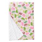 美國 Baby Elephant Ear 親膚毛毯/冷氣毯/防風毯/毯子(68x74cm)-粉色大象