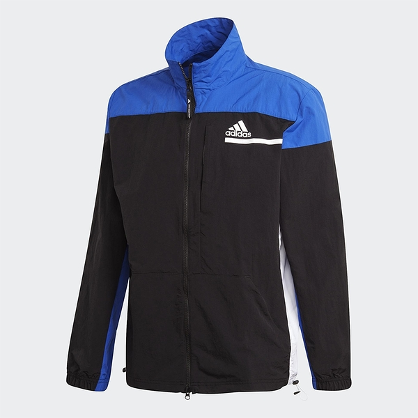ADIDAS Z.N.E. 男裝 外套 訓練 立領 拉鍊口袋 調節式下擺 藍 黑【運動世界】FR7143