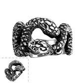 鈦鋼戒指 蛇造型-個性百搭帥氣流行生日情人節禮物男飾品73le130【時尚巴黎】