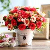 仿真花擺件絹花朔料花假花客廳裝飾花創意盆栽套裝