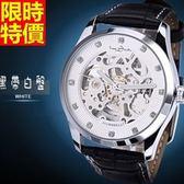 機械錶-好搭復古有型男腕錶3色5j137[巴黎精品]