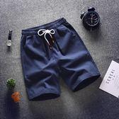 棉麻短褲男 寬松運動大褲衩休閒褲沙灘褲五分褲