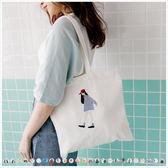 肩背包-多款可愛圖案帆布肩背包-共20色-(特價品)-A15151857-天藍小舖