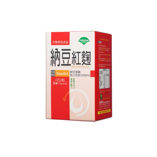 優杏 納豆紅麴膠囊 120粒/盒