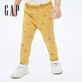 Gap嬰兒 布萊納系列 可愛印花針織長褲 731145-黃色