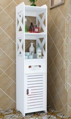 馬桶邊櫃  洗手間落地儲物櫃 收納【潮咖範兒】