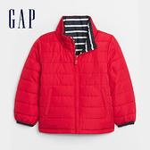 Gap男幼童 時尚迷彩印花拉鍊半高領外套 593411-紅色