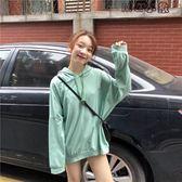 連帽上衣女-春季新款韓版女裝慵懶風長袖薄款衛衣寬鬆白色連帽上衣