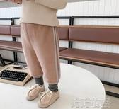 男童長褲-中小童加絨假兩件褲子冬季新款男童加厚休閒褲兒童潮褲 喵喵物語
