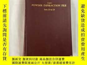 二手書博民逛書店POWDER罕見DIFFRACTION FILE Sets 23