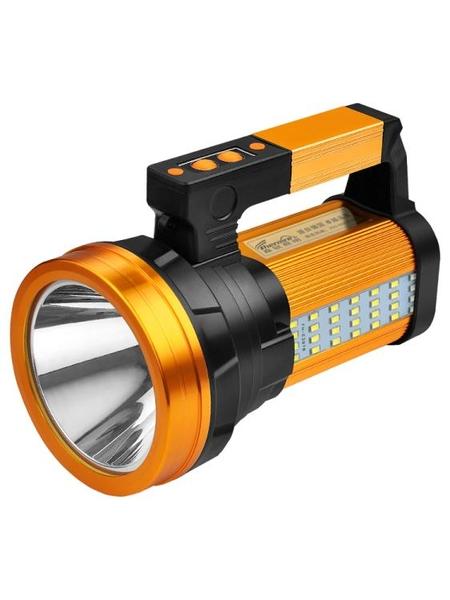 手電筒強光充電戶外超亮大功率 遠射led氙氣家用巡邏礦手提探照燈 1995生活雜貨