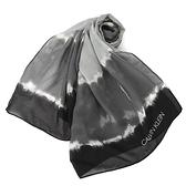 Calvin Klein漸層渲染雪紡薄圍巾(黑灰色)103265