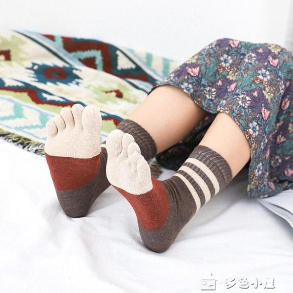 五指襪秋冬新品女士純棉五指襪中筒保暖襪純棉吸汗5雙入
