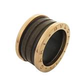 BVLGARI 寶格麗 B.ZERO1系列古銅色陶瓷18K玫瑰金戒指【二手名牌 BRAND OFF】