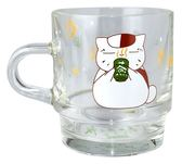 (木棉花)預購:疊疊杯(玻璃)-夏目劇場版B款(三隻小貓)