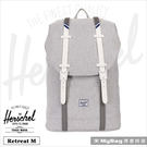 Herschel 後背包 淺灰色 / 白...
