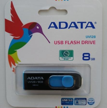 【晉吉國際】ADATA 威剛  UV128 滑動式 隨身碟 8G USB3.0