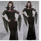 萬聖節派對服裝/高貴女王哥特女妖黑色吸血...