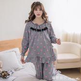 韓版長袖月子服季純棉孕婦產後喂奶睡衣套裝女哺乳期家居服 全網最低價最後兩天