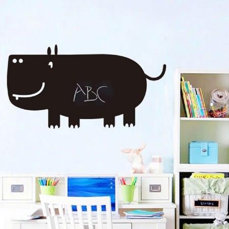 可愛河馬造型黑板貼 60x90CM WTB-783