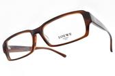 LOEWE 光學眼鏡 VLW759K 6XE (棕) 質感素面方框款 # 金橘眼鏡