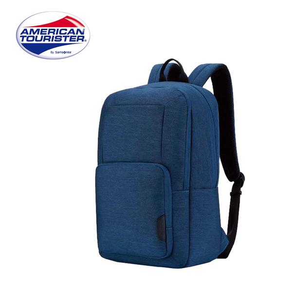 特價 Samsonite 美國旅行者【BOOM CLAP TF8】筆電後背包 輕量 可插掛 背帶反光條 (深藍)